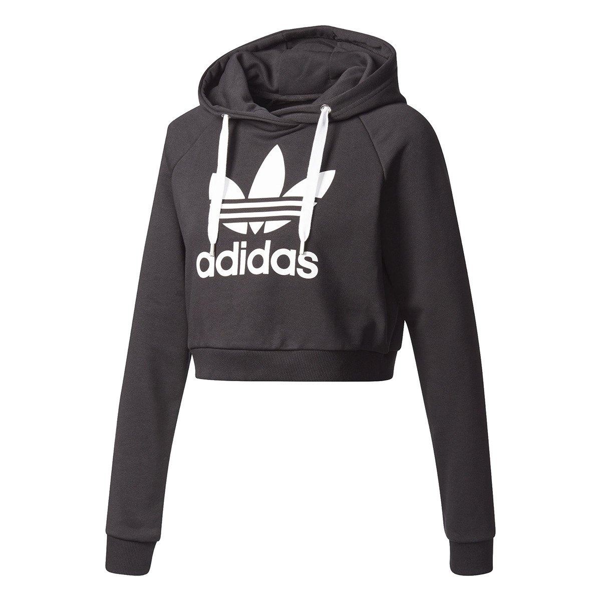Bluza z kapturem damska Adidas Originals Trefoil Crop - BP9478 . 55fe1be82e