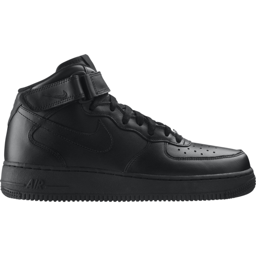 new style 5f733 d0bfa ... Buty Nike Air Force 1 Mid All Black - 315123-001 ...
