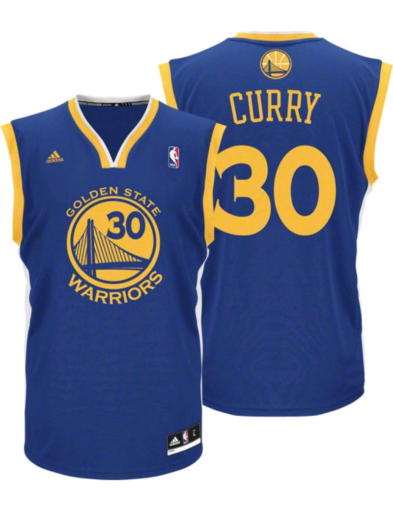 uroczy 100% autentyczności dostępność w Wielkiej Brytanii Koszulka Adidas NBA Stephen Curry Golden State Warriors Replika - A21104