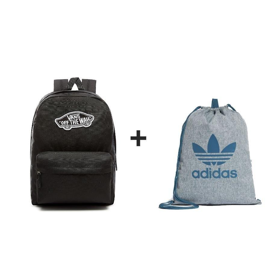 849812f8a8e78 Plecak VANS Realm Backpack - VN0A3UI6BLK + Worek Adidas - Basketo.pl