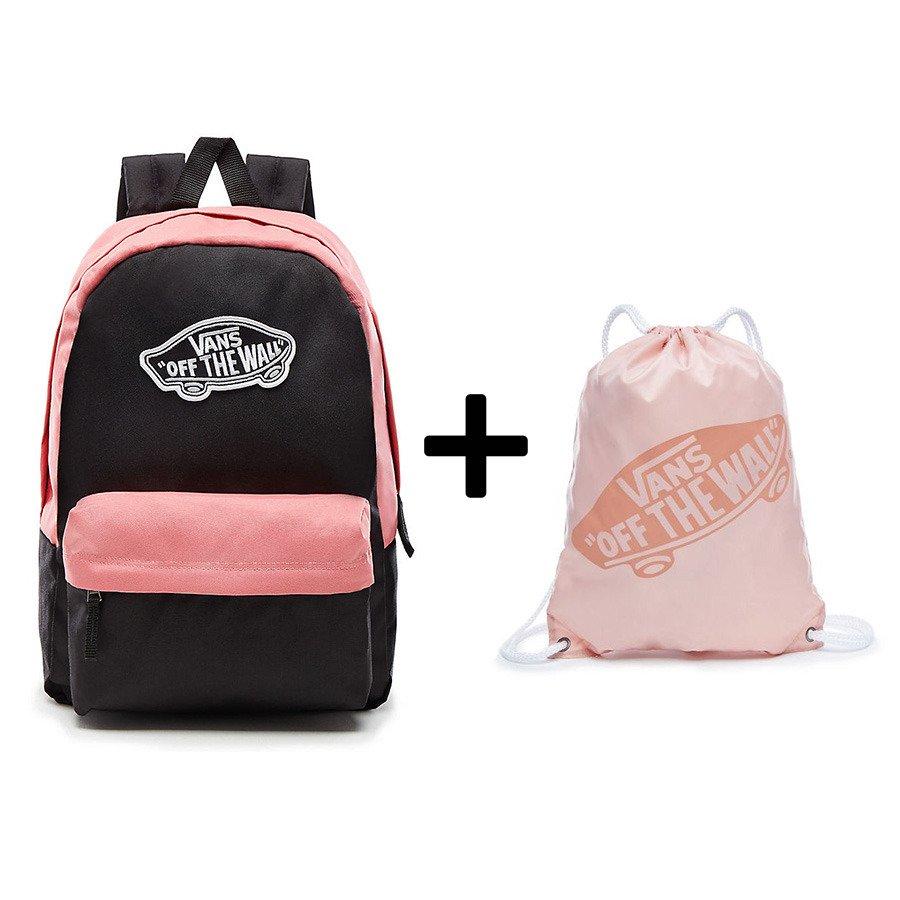 756a7d3577fc Plecak VANS Realm Backpack - VN0A3UI6YGI + worek szkolny - Basketo.pl