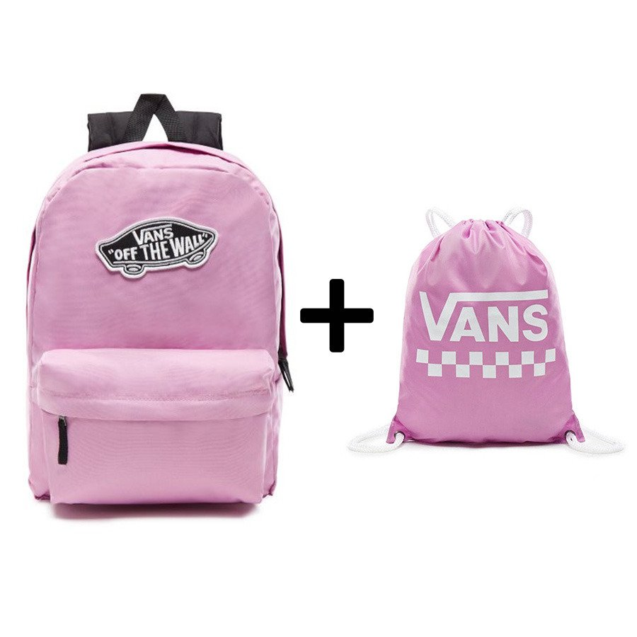 sklep z wyprzedażami dostępny nowy styl Plecak Vans Realm Classic Backpack róż - VN0A3UI6VLT 297 + worek szkolny