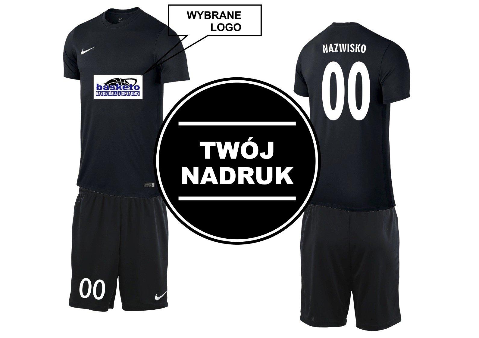 1ee24198006f1c ... Zestaw Nike Park Koszulka + Spodenki z Twoim nadrukiem czarne ...