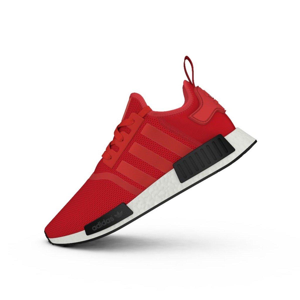 buty adidas nmd r1 bordowe