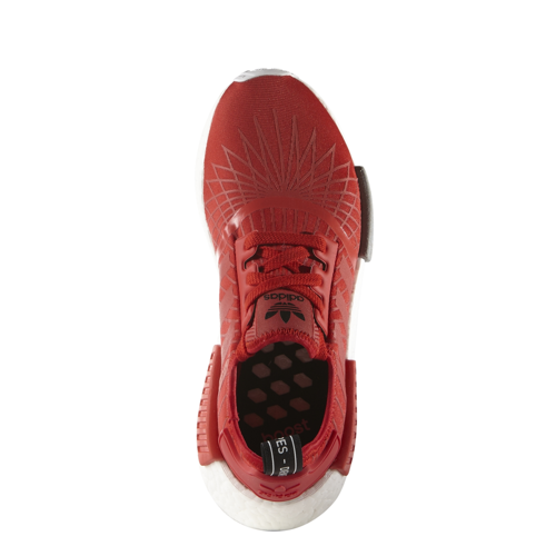 "Buty Adidas NMD R1 ""Lush Red Spider Maze"" - s79385"