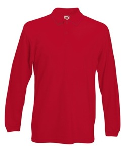 Koszulka Premium Long Sleeve Polo Fruit of the Loom 633060 40