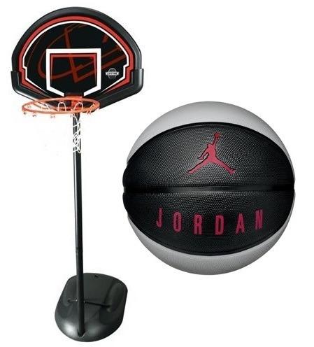 95c65ee3d5611e ... Zestaw do koszykówki Lifetime Chicago 90022 + Piłka do koszykówki  Jordan Playground 8P ...