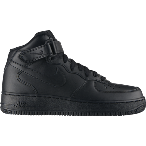 c1e28f5d500a Buty Nike Wmns Air Force 1 Mid Leather Black - 366731-001 - Basketo.pl