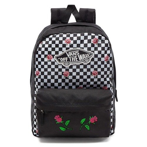 2d568301c634d ... Plecak VANS Realm Rose Checker Custom Pink Roses - VN0A3UI6YFK ...