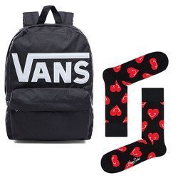 Plecak VANS Old Skool II - VN000ONIY28-813 + Skarpetki Happy Socks Smiley Heart