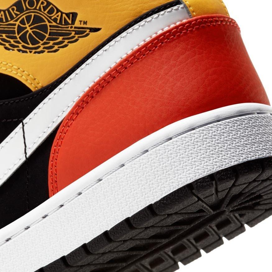 Nike Air Jordan 1 Mid Black Amarillo Orange
