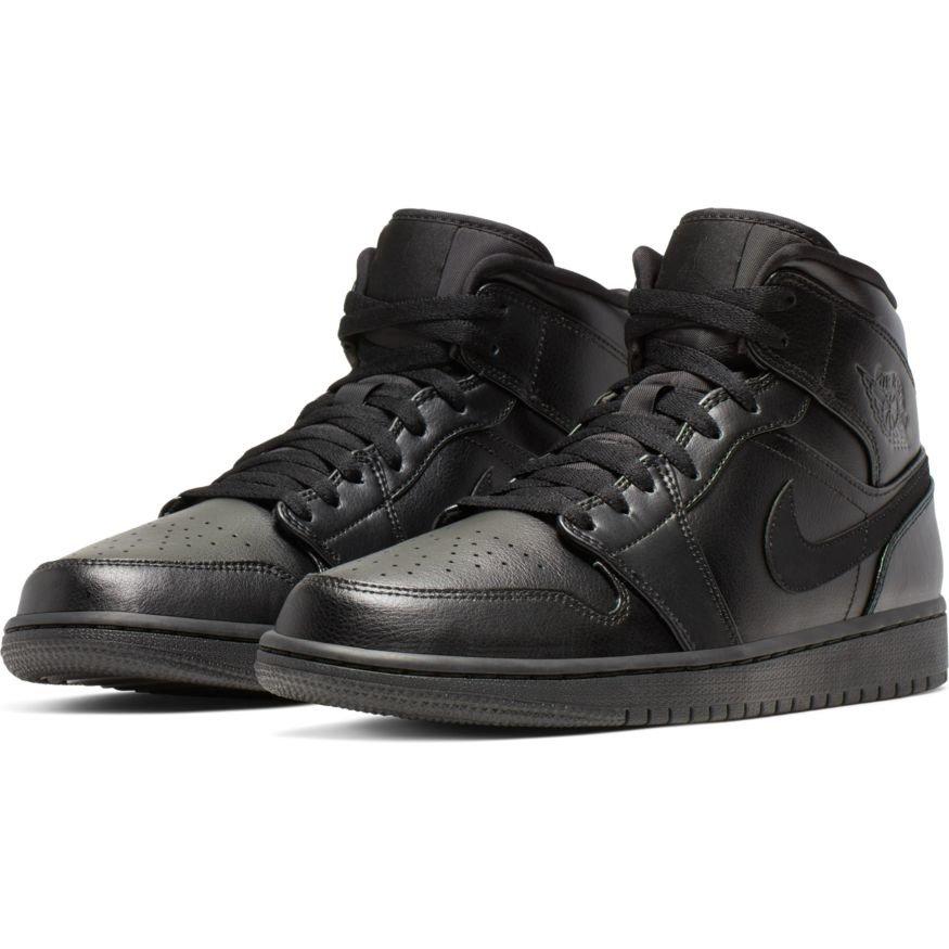 Buty Air Jordan 1 Mid Triple Black 554724 090