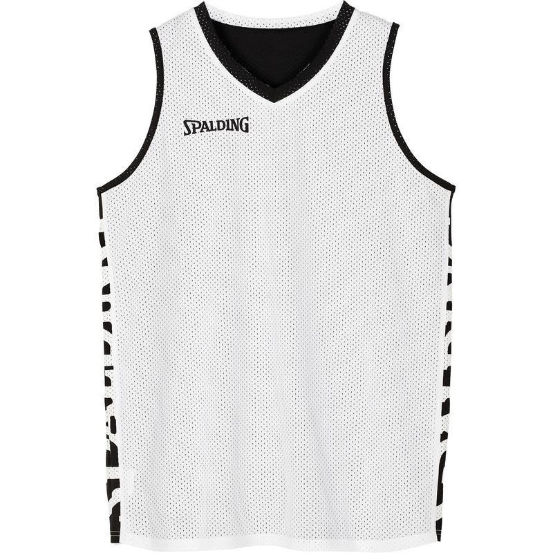 Koszulka do koszykówki dwustronna Spalding Essential czarno biała