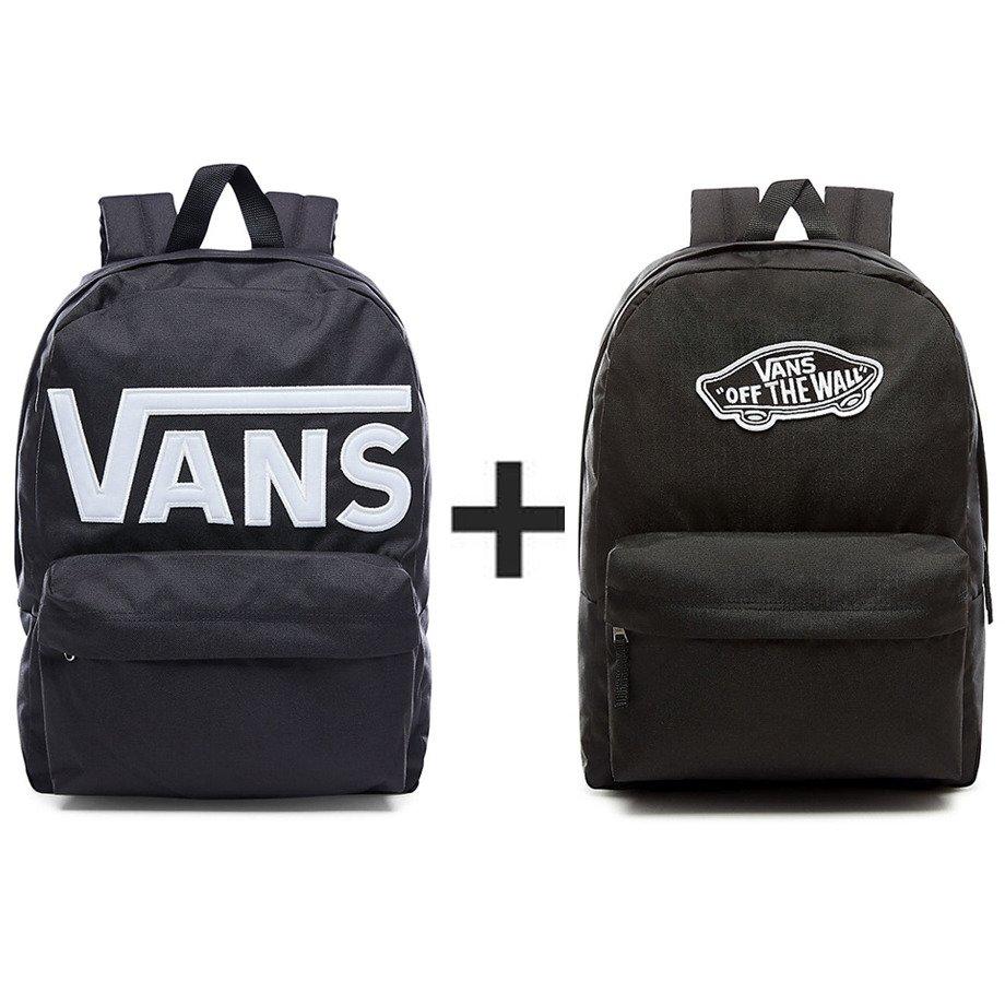 Plecak VANS Old Skool II VN000ONIY28 813 + Plecak VANS Realm Backpack VN0A3UI6BLK