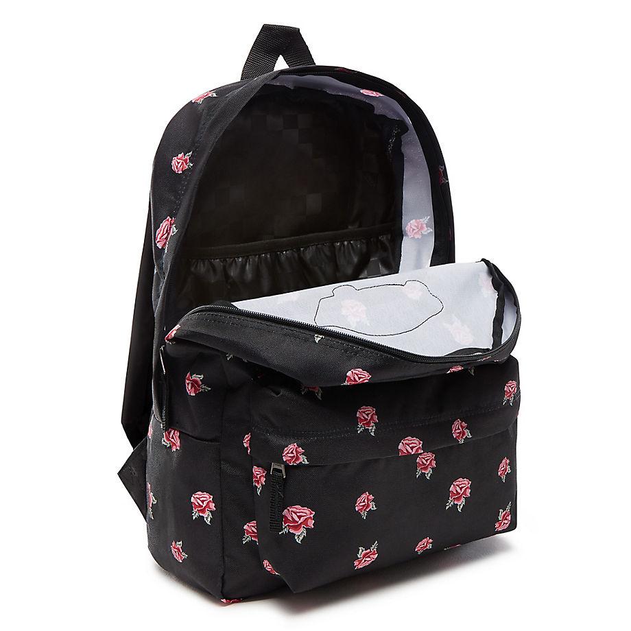 Zjednoczone Królestwo bliżej na gorąca wyprzedaż Plecak szkolny VANS Realm Black & Rose Backpack - VN0A3UI6RDU