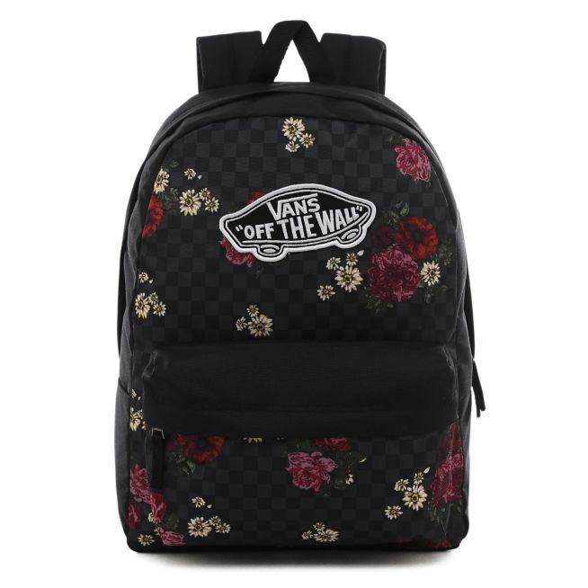 Plecak do szkoły Vans Realm Botanical Check VN0A3UI6UWX + Worek Custom Dark Rose