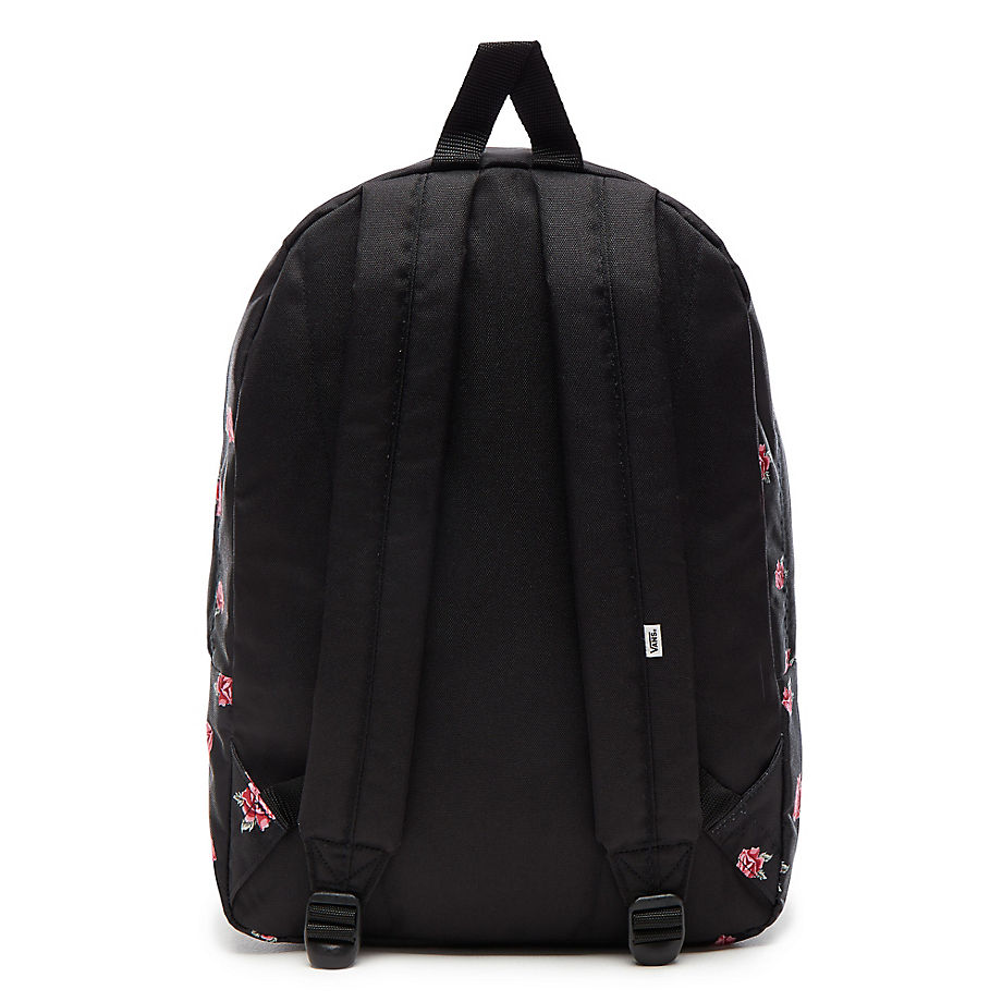 Plecak szkolny VANS Realm Black & Rose Backpack VN0A3UI6RDU