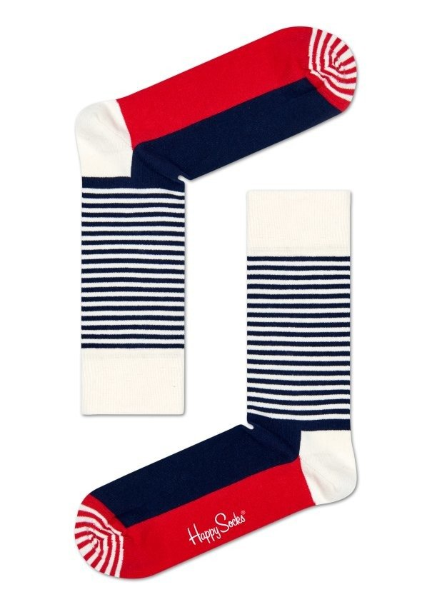 Skarpety Happy Socks Half Stripe SH01 068