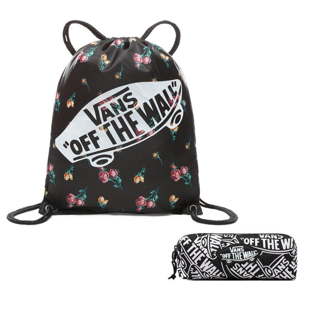 Worek szkolny Torba Vans Benched Bag Satin Floral VN000SUFUV3 + piórnik vans 28778)