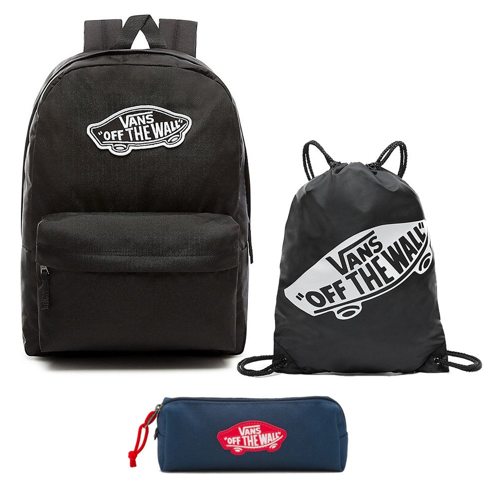 Zestaw Plecak VANS Realm Backpack VN0A3UI6BLK + Worek Piórnik