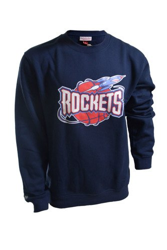 Bluza Mitchell & Ness NBA Houston Rockets Team Logo Crewneck