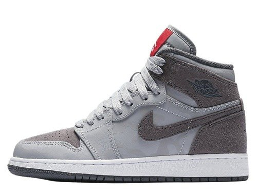 Buty Air Jordan 1 Retro High Premium Wolf Grey BG - 822858-027