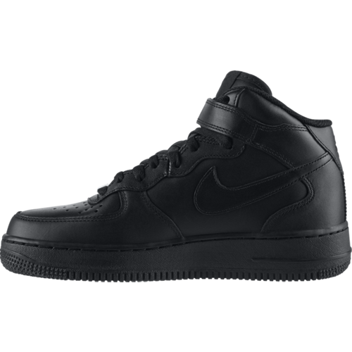 Buty Nike Wmns Air Force 1 Mid Leather Black - 366731-001