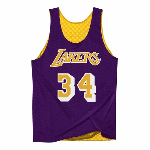 Koszulka Mitchell & Ness NBA Reversible Mesh Tank Los Angeles Lakers Shaquille O'Neal - NNRMDA18007-LALLGPR1SON96