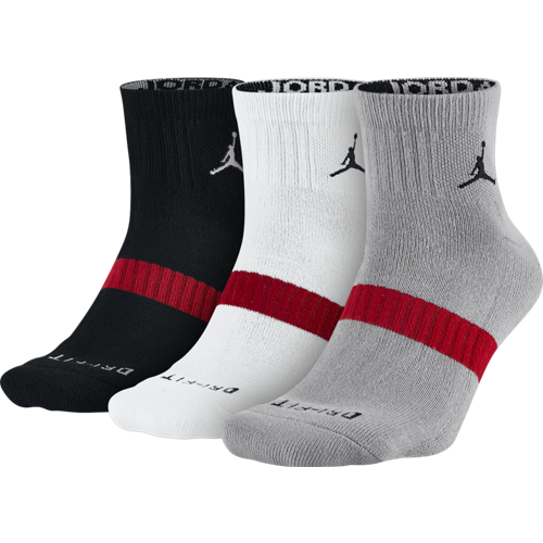 Skarpety Air Jordan Dri-Fit Low Quater 3 Pack -  SX5242-010